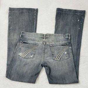 7FAM Grey Dojo Belgrave Splatter Bootcut Jeans